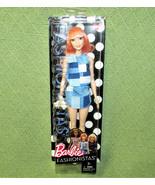 NEW BARBIE FASHIONISTAS #60 PATCHWORK BLUE DENIM PINK HAIR MATTEL NIB DO... - $18.70