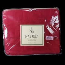 Ralph Lauren Classic Full Flat Sheet Scarlet Red New in Package - $34.82