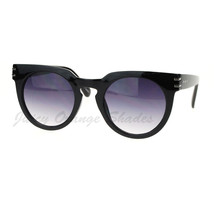 Designer Fashion Womens Sunglasses Round Keyhole Horn Rim - $9.95
