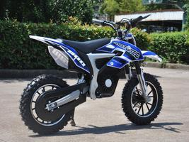 Electric Dirt Bike MotoTec 36V 500W Lithium Blue Motorcycle 3 Speeds Key Lock image 3