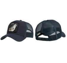 Goorin Bros Snapback Mesh Cap Embroidered Patch Navy Wolf  Trucker Hat 101-6099