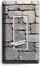 Old Medieval Castle Rock Stone Wall 1 Rocker Light Switch Plates Room Home Decor - $8.99