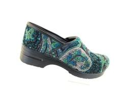 DANSKO Vegan Pro Tapestry Blue 996-730202 Nursing Pro pull up shoes 11... - $73.57
