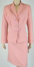 Evan Picone Coral White Jacket Blazer Skirt Sui... - $62.36