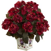 Hydrangea w/Large Floral Planter - $74.01