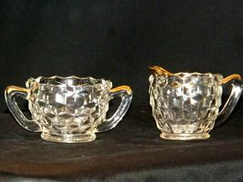 Waterford Cream and Sugar USA Pair with gold trim AA19-LD11942 Vintage image 4