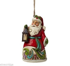 Jim Shore Hanging Ornament Santa with Lantern   New in Box