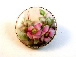 Vintage Pink Flowers Azaleas ??? Brooch - $24.99