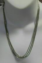 LIA SOPHIA Triple Strand Silver-tone Chain Necklace - $18.00