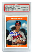 Warren Spahn Signed Braves 1985 TCMA Cy Young Trading Card - (PSA Encaps... - $80.00
