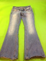 American Eagle Blue Jeans Size 0 Short Petite Medium Wash Cotton Straigh... - $9.50