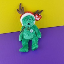 TY Beanie Baby 2002 Holiday Teddy 2001 Christmas Reindeer Plush Bean Bag... - $9.90