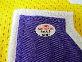 MAGIC JOHNSON / NBA HALL OF FAME / AUTOGRAPHED L.A. LAKERS CUSTOM JERSEY / COA image 5