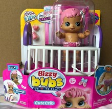 Little Live Pets Bizzy Bubs Cute Crib Bouncing Baby Gracie New In Hand - $19.79