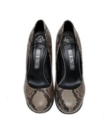 Auth Gina Brown Python Embossed Leather Platform Pumps UK 5 US 7 MSRP 1400$ - $168.30