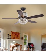 "Warehouse of Tiffany CFL-8170BL Laure Crystal 6-light 52"" Ceiling Fan - $250.00"