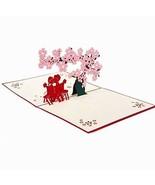 HeartMoon 3D Card Cherry Blossoms Lover Mother's Day Thank You Congratu... - $13.47