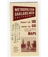Metropolitan Oakland California What to See How to Go Maps 1950 - $21.75