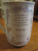 Precious Moments Cup Cathy Admired One Porcelain Coffee Mug Enesco  - $8.95