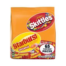 Skittles & Starburst Fruity Candy, Fun Size Variety Mix Bag, 31.9 Oz - $20.00