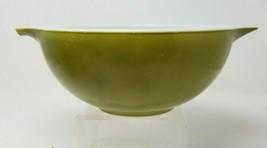 """Vintage Avocado Green Pyrex Pourable Bowl 443 Ovenware 9"""" x 4"""" Mixing - $15.83"""