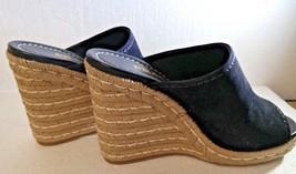 Womens Prada, Calzature Donna, Black Suede, Open Toe Espadrille, Size 39.5, Worn - $167.86