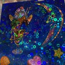 *ONE* VINTAGE 90s LISA FRANK Bubble Prism GALACTIC SUNDAE Sticker Mod  RARE! image 2