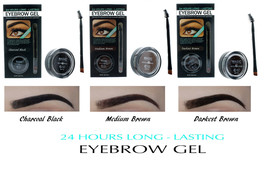 Eyebrow Gel + Brush Waterproof and Smudge proof Formula 24 Hours Long La... - $7.49