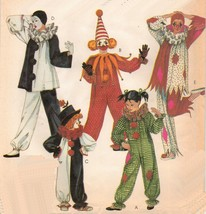 Adult Misses Mens Halloween Clown Harlequin Jester Costumes Sew Pattern L(40-42) - $13.99