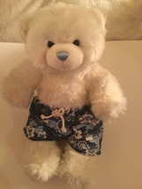 Halloween Build A Bear plush 15 in white blue swim board shorts trunks  - $15.99