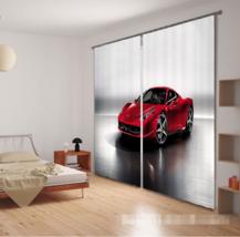 3D Car Poster 0310 Blockout Photo Curtain Print Curtains Drapes Fabric Window UK - $145.49+