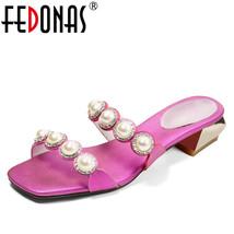 FEDONAS Party T High Womens New Fashion Heels Beading Platform Peep Pearl Pumps Aq7Ar0w