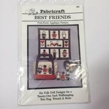 Best Friends Free Form Applique Quilt Pattern Fabricraft - $11.64