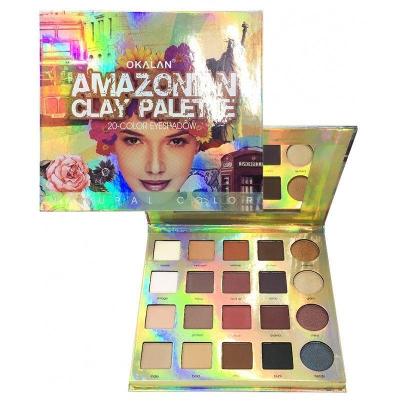 OKALAN Amazon Clay Eyeshadow Palette 20 Natural Eye Shadow Colors