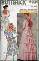 Vintage Butterick 6939 Wedding Dress, Prom Dress, Special Occasion, Average sew - $19.00