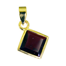 comely Ruby CZ Gold Plated Red Pendant Fashion suppiler US - $5.93