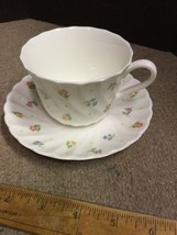 WEDGWOOD Cascade Cup And Saucer China ENGLAND - Flower Pattern - $13.55