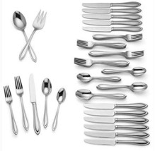 Lenox Medford Flatware Set 62 Piece 18/10 Stainless Service for 12 New - $254.90