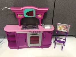 2008 Barbie Doll My Dream House Glam Pink Kitchen furniture Stove Sink Picture - $19.75