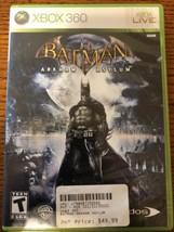 Batman: Arkham Asylum (Microsoft Xbox 360, 2010) Game Free Fast Shipping - $6.29