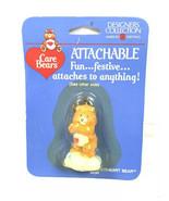 1985 Vintage Care Bears Figure Attachable Keychain Tenderheart Bear New ... - $6.25