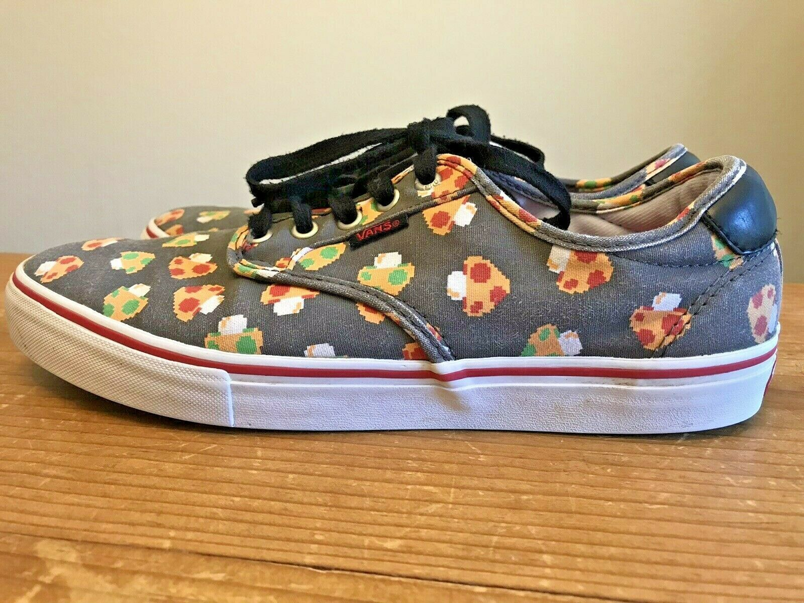 Vans Nintendo Men's Size 10 Shoes Chima Ferguson Pro Gray Mushroom Skateboard