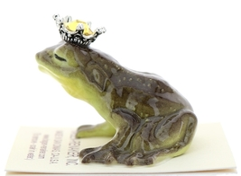 Hagen-Renaker Miniature Frog Prince Kissing Birthstone 11 November Topaz image 4