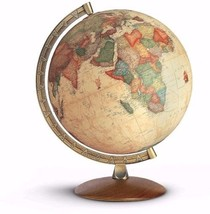 Illuminate Globe Map Walnut Plastic Brown Learning Antique Polish Wooden... - $109.37
