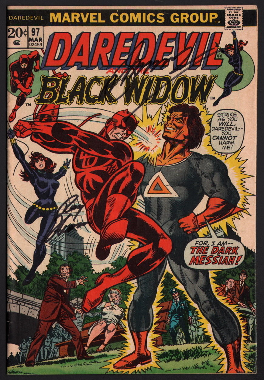 Daredevil #97 SIGNED Gerry Conway & Roy Thomas / Black Widow Marvel Comics