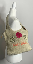 The Sak Hand Crocheted Floral Tan Totes Tropic Shoulder Bag NWT! i9 - $21.68