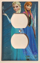 Frozen Elsa with Anna Light Switch Duplex Outlet Wall Cover Plate Home decor image 3
