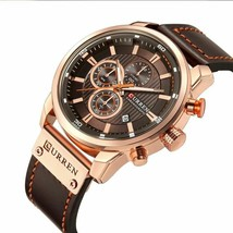 Luxury Brand Curren Analog Quartz Watch Men Chronogragh Waterproof Mens Watches - $42.99