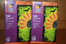 Home Accents 100 Orange Mini LIghts (2 Boxes) NEW - $21.99