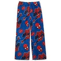 SPIDER-MAN Boys Blue Super-Soft Fleece Lounge Pants Pajamas NWT boys Size 4 - $9.32